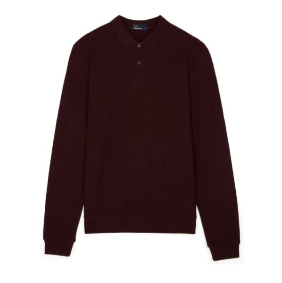 Fred Perry Honeycomb Texture Piqué Polo Shirt<p>Deep Mahogany