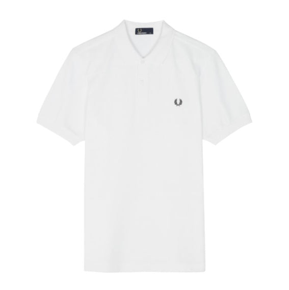 Fred Perry Tonal Panel Piqué Shirt<p>White