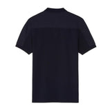 Fred Perry Tonal Panel Piqué Shirt<p>Navy