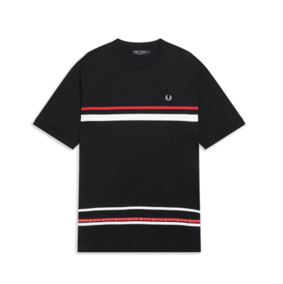 Fred Perry Micro Tape T-shirt<p>Black