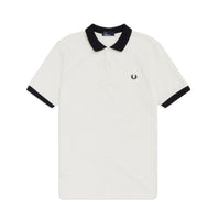 Fred Perry Colour Block Polo Shirt<p>Snow White