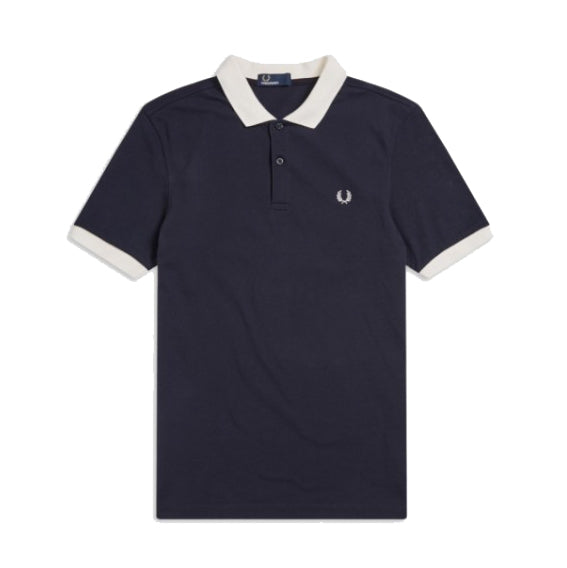 Fred Perry Colour Block Polo Shirt<p>Navy