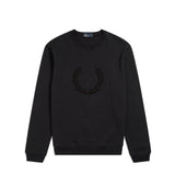 Fred Perry Textured Laurel Wreath<p>Black