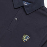 Fred Perry Striped Shield Shirt<p>Navy