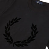 Fred Perry Textured Laurel Wreath T-Shirt<p>Black