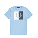 Fred Perry Split Laurel T-Shirt<p>Sky