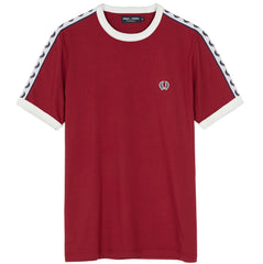 Fred Perry Sports Authentic Taped Ringer T-Shirt <p>Maroon
