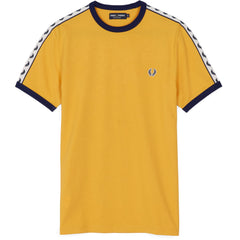 Fred Perry Sports Authentic Taped Ringer T-Shirt <p>Gold