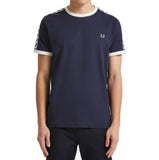 Fred Perry Twin Taped Ringer T-shirt <p>Carbon Blue