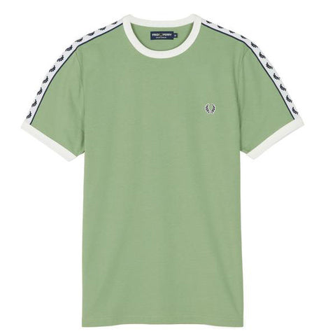 Fred Perry Sports Authentic Taped Ringer T-Shirt <p>Pistachio