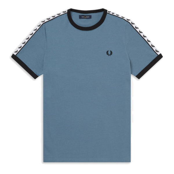 Fred Perry Sports Authentic Taped Ringer T-Shirt <p>Blue Slate