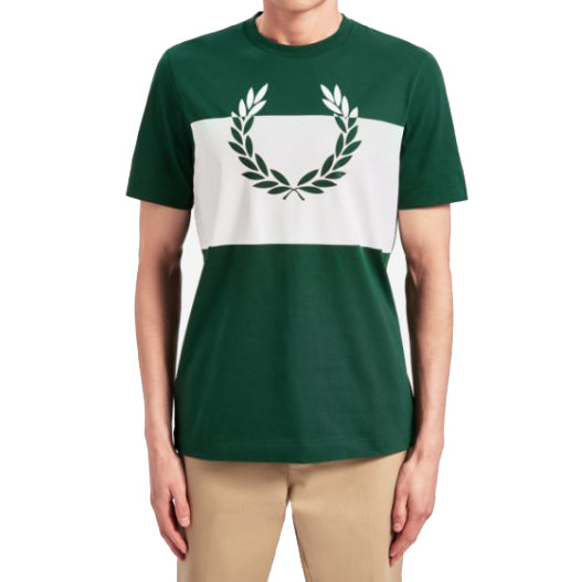 Fred Perry Printed Laurel Wreath T-shirt <p>Ivy