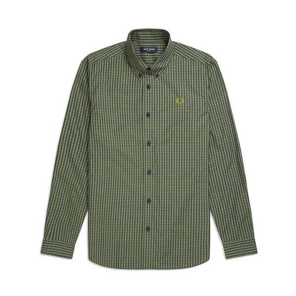 Fred Perry Three Colour Gingham Shirt<p>Capulet Olive