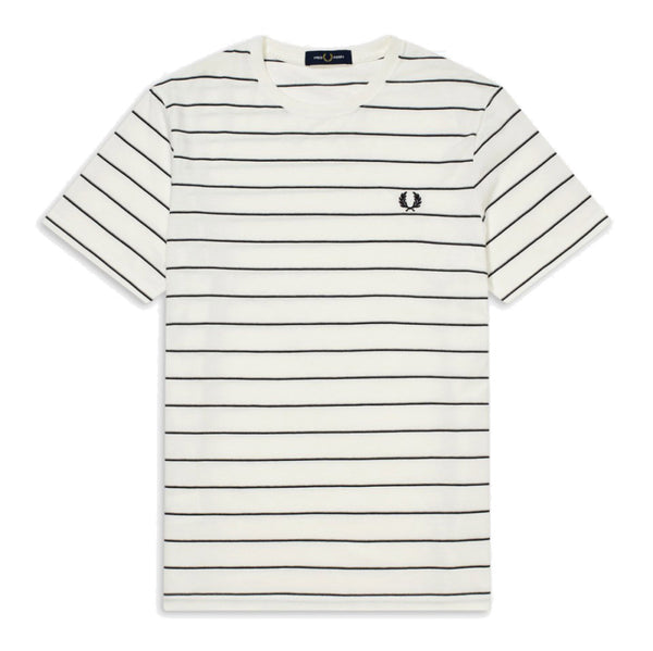 Fred Perry Fine Stripe T-shirt<p>Snow White