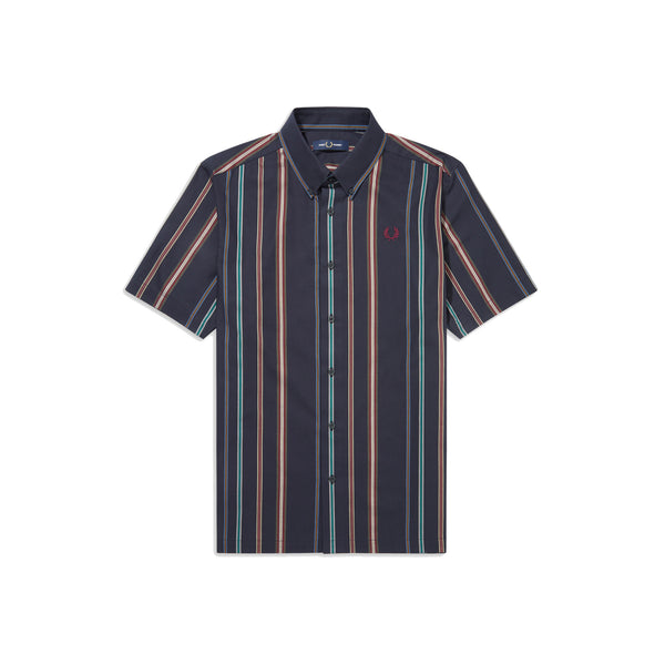 Fred Perry Stripe Shirt<p>Navy