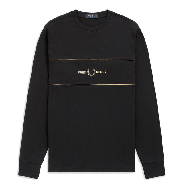 Fred Perry Embroidered Panel T-shirt<p>Black