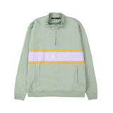 OBEY Gaze Mock Neck Zip<p>Light Sage