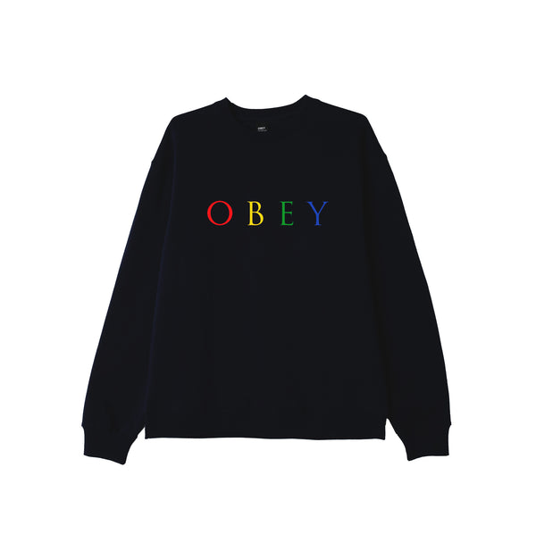 OBEY Novel Crew Neck Sweat <p>Black