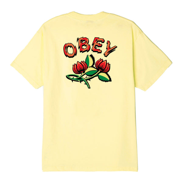 OBEY Briar Basic T-shirt<p>Lemon