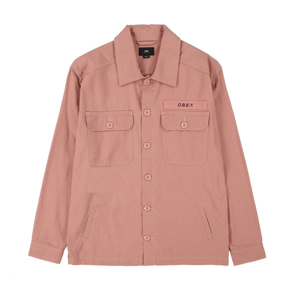 OBEY Station Shirt Jacket<p>Rose