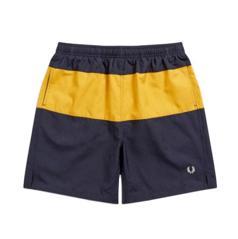 Fred Perry Classic Swim Shorts <p>Navy & Mustard