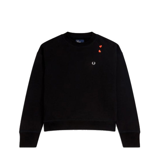 Fred Perry x Amy Winehouse Embroidered Sweatshirt<p>Black
