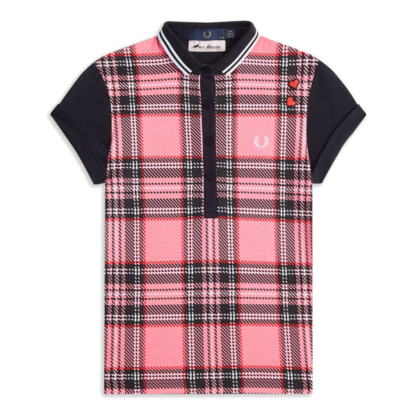 Fred Perry x Amy Winehouse Tartan Print Polo <p>Strawberry Oxford