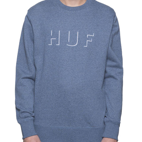 HUF Shadow Crew Neck Fleece<p>Navy/Slate Heather