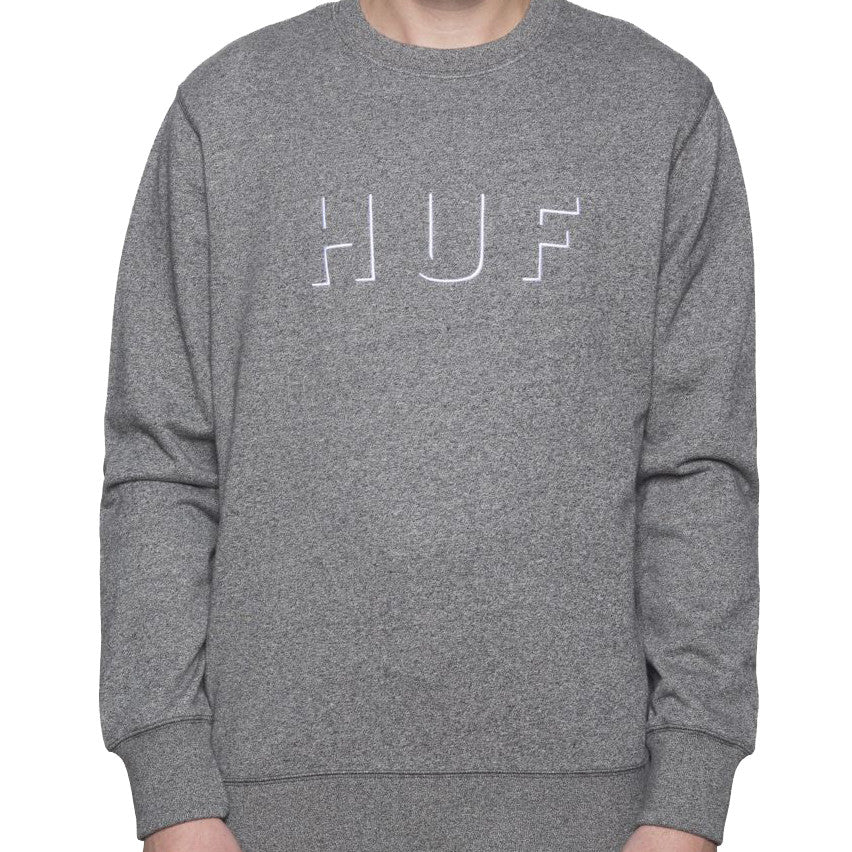 HUF Shadow Crew Neck Fleece<p>Salt and Peper Heather