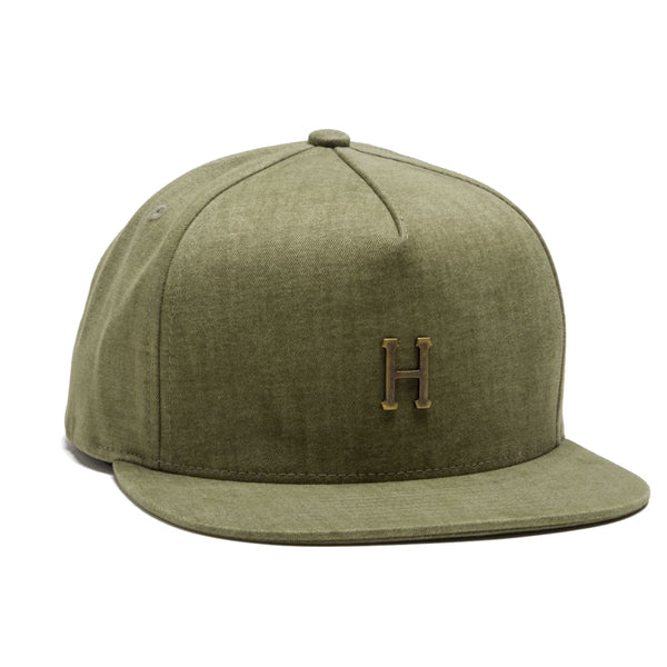 HUF Small Metal H Strapback<p>Olive