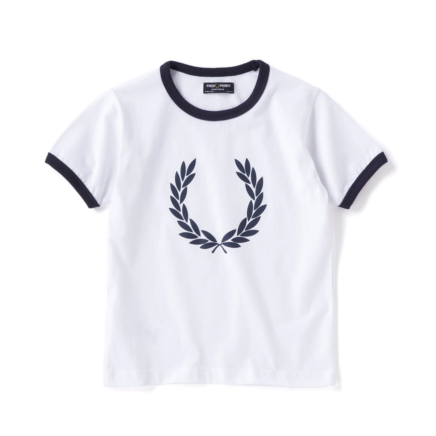 Fred Perry Kids Laurel Wreath Ringer T-Shirt<p>White