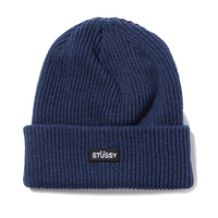 Stussy Small Patch Watchcap Beannie<p>Navy