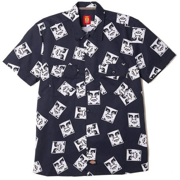 OBEY X Dickies Work Shirt<p>Dark Navy