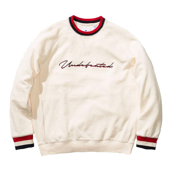 Undefeated Long Sleeve Raglan Crew<p>Offwhite