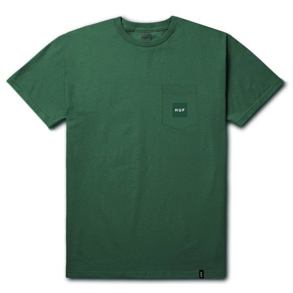 HUF Box Logo Pocket T-Shirt <p> Emerald