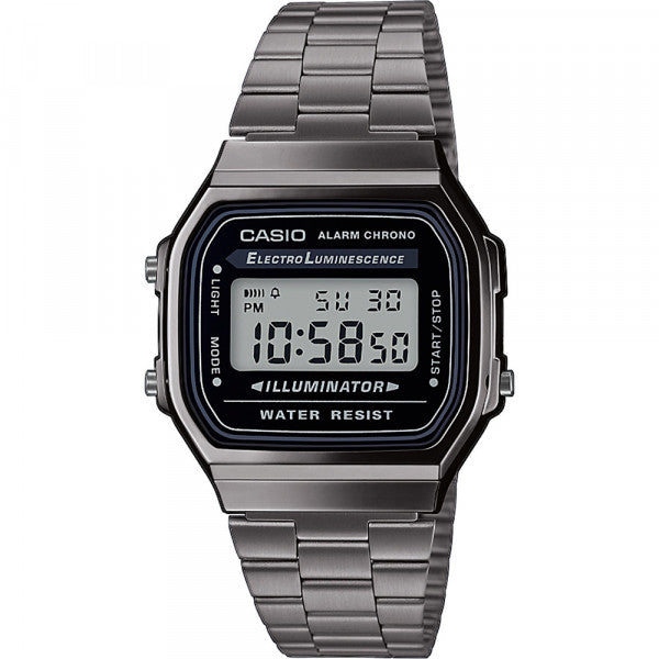 Casio Retro Vintage Unisex Digital Metal <p> A168WEGG-1B
