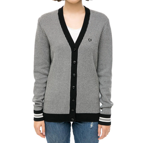 Fred Perry Houndstooth Cardigan<p>Black