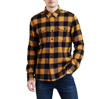 Levi's Classic Worker Shirt<p>Chai Tea Buffalo Check Plaid