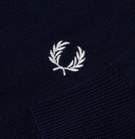 Fred Perry Classic V Neck Jumper<p>Dark Carbon