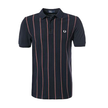 Fred Perry Stripe Front Piqué Shirt<p>Navy