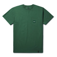 HUF box Logo Pocket Tee<p>Emerald