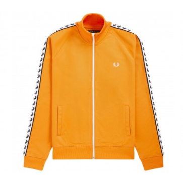 Fred Perry Sports Authentic Taped Track Jacket<p>Amber