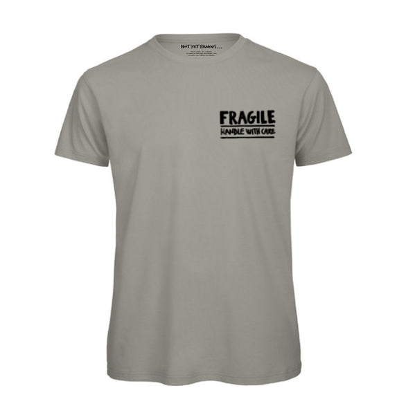 Not Yet Famous Fragile T-Shirt<p>Grey [ Men ]
