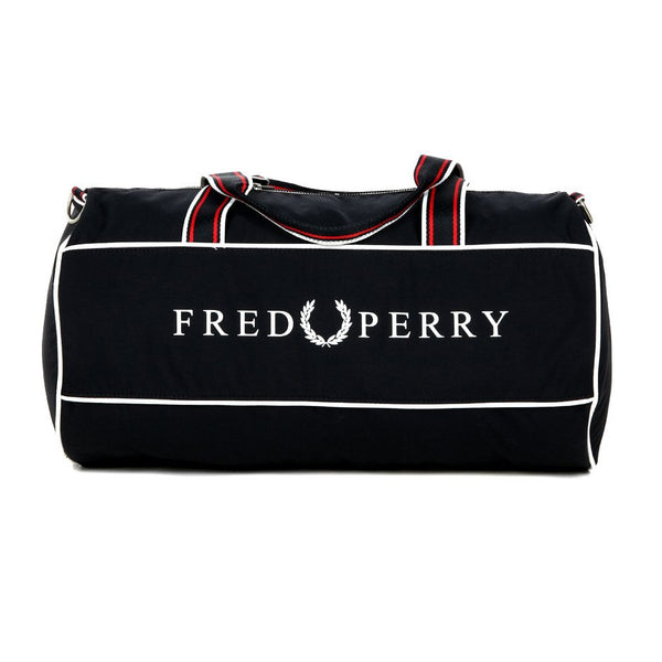 Fred Perry Retro Branded Barrel Bag <p>Navy