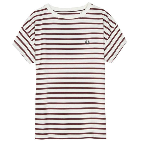 Fred Perry Classic Stripe T-Shirt<p>Snow White