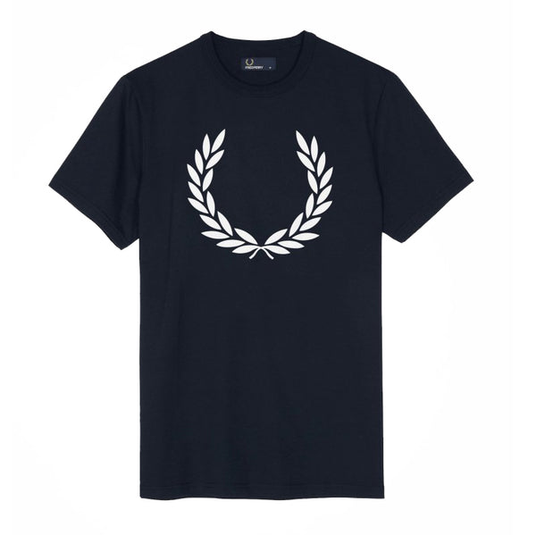 Fred Perry Laurel Ringer T-Shirt<p>Carbon Blue