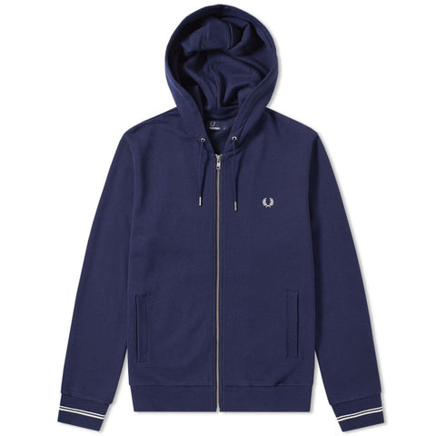 Fred Perry Loopback Hooded Sweat<p>Carbon Blue