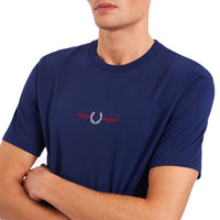 Fred Perry Embroidered T-Shirt <p> French Navy