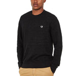 Fred Perry Pique Texture Sweatshirt <p>Black