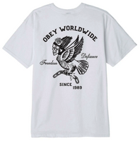 Obey Demon Bird Tee<p>White